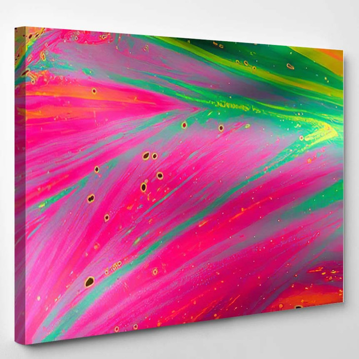 Psychedelic Abstract Formed By Light Reflecting 1 - Psychedelic Canvas Art Print