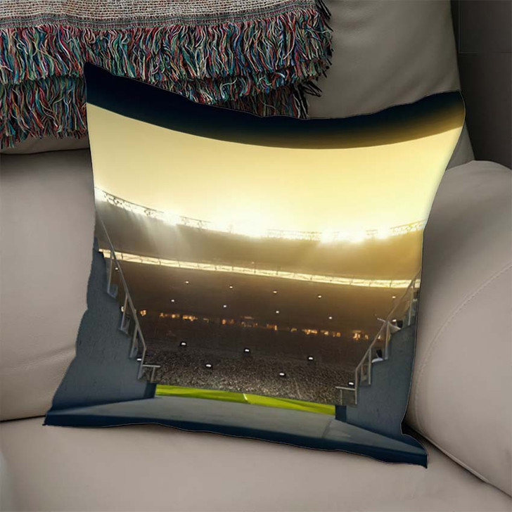 3D Illustration3D Rendering Sport Stadium Background - Football Throw Pillow