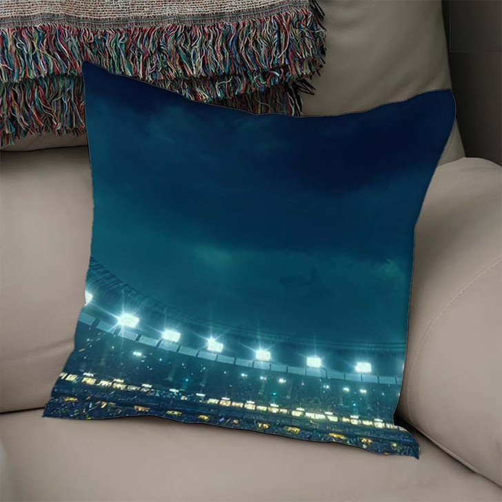 3D Illustration3D Rendering Sport Stadium Background 1 - Football Throw Pillow