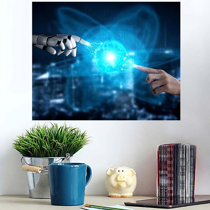 3D Rendering Artificial Intelligence Ai Research 3 - Creation of Adam Poster Art