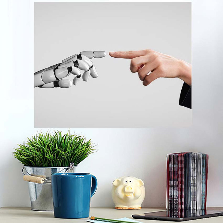 3D Rendering Artificial Intelligence Ai Research 14 - Creation of Adam Poster Art