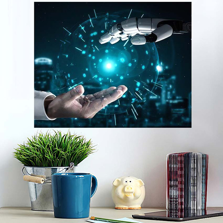 3D Rendering Artificial Intelligence Ai Research 16 - Creation of Adam Poster Art