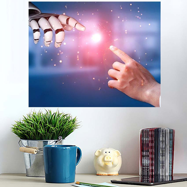 3D Rendering Artificial Intelligence Ai Research 21 - Creation of Adam Poster Art
