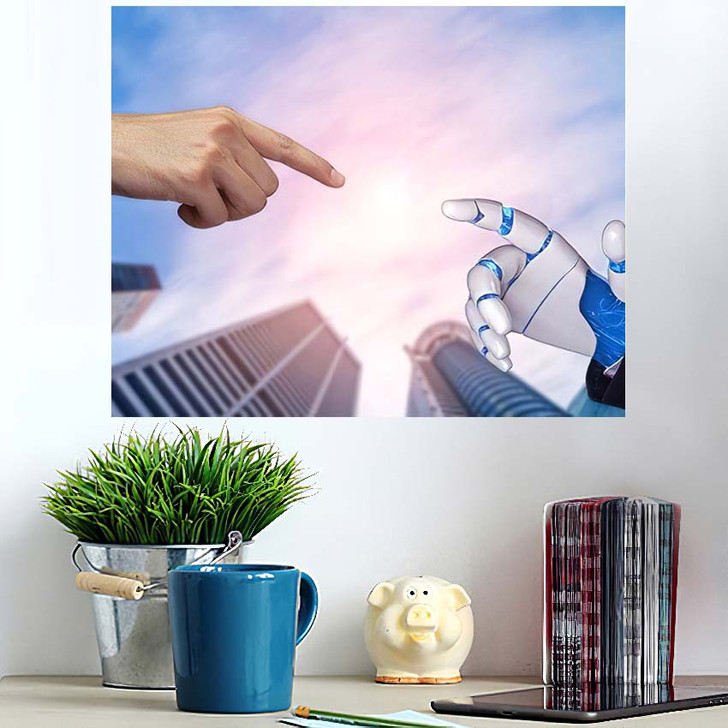 3D Rendering Artificial Intelligence Ai Research 22 - Creation of Adam Poster Art