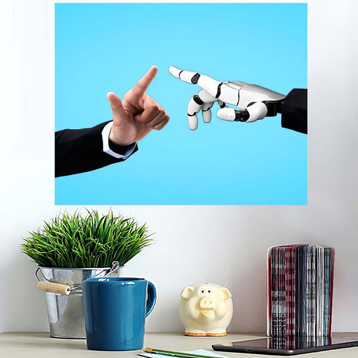 3D Rendering Artificial Intelligence Ai Research 23 - Creation of Adam Poster Art