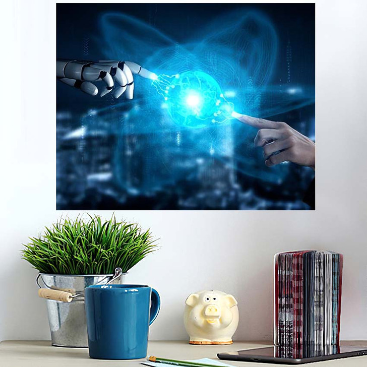 3D Rendering Artificial Intelligence Ai Research 24 - Creation of Adam Poster Art
