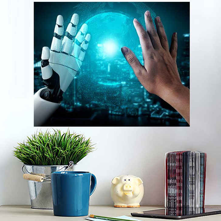 3D Rendering Artificial Intelligence Ai Research 25 - Creation of Adam Poster Art