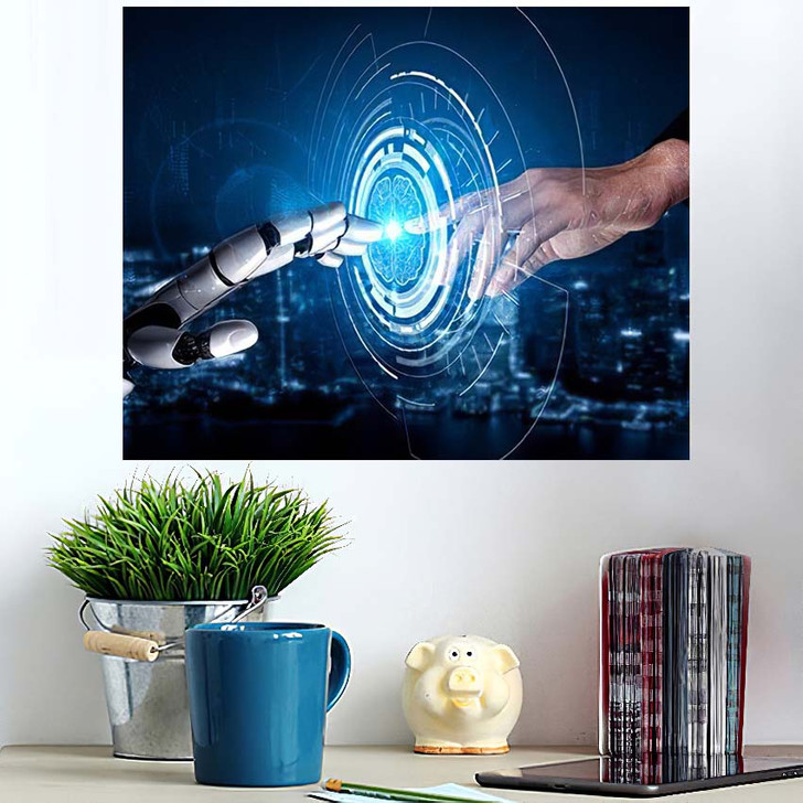 3D Rendering Artificial Intelligence Ai Research 26 - Creation of Adam Poster Art