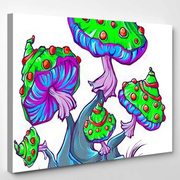 Psychedelic Mushrooms 7 - Psychedelic Canvas Art Print