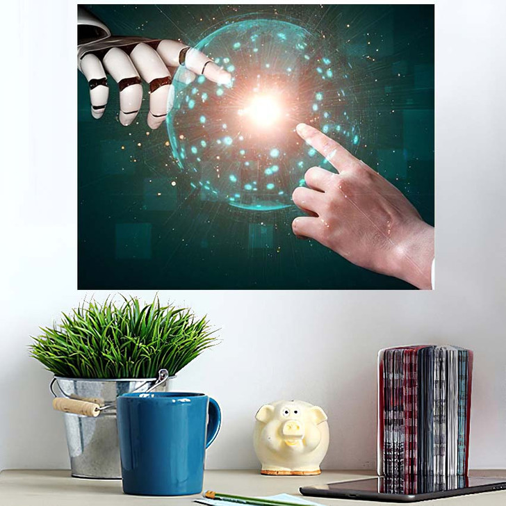 3D Rendering Artificial Intelligence Ai Research 27 - Creation of Adam Poster Art