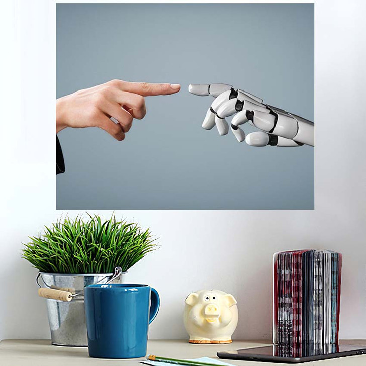 3D Rendering Artificial Intelligence Ai Research 28 - Creation of Adam Poster Art