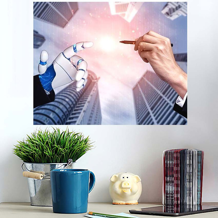 3D Rendering Artificial Intelligence Ai Research 29 - Creation of Adam Poster Art