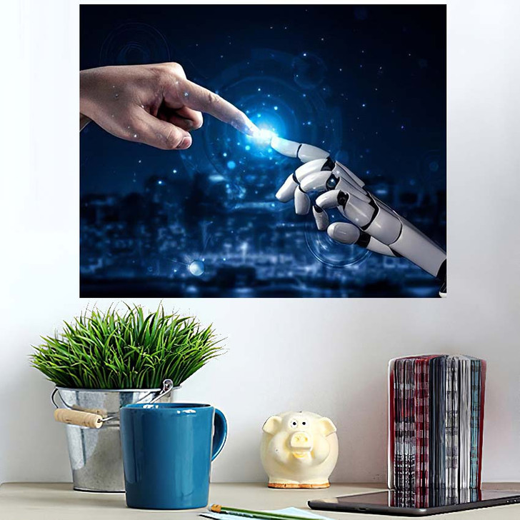 3D Rendering Artificial Intelligence Ai Research 30 - Creation of Adam Poster Art
