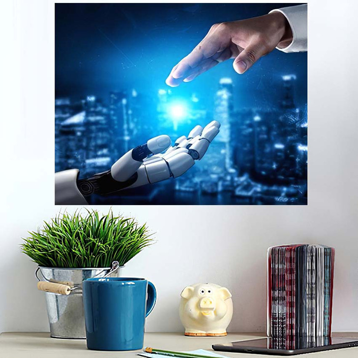 3D Rendering Artificial Intelligence Ai Research 31 - Creation of Adam Poster Art