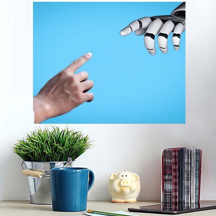 3D Rendering Artificial Intelligence Ai Research 32 - Creation of Adam Poster Art