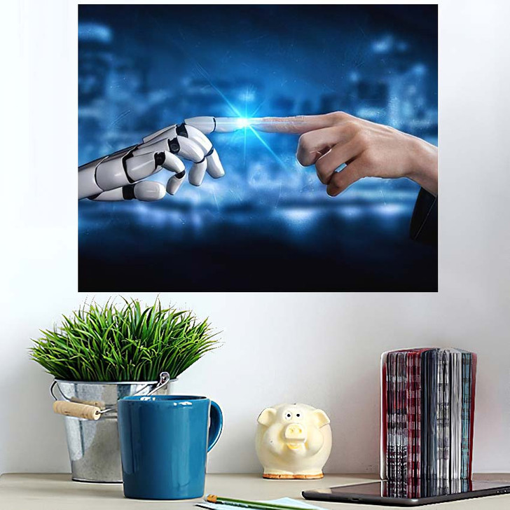 3D Rendering Artificial Intelligence Ai Research 33 - Creation of Adam Poster Art