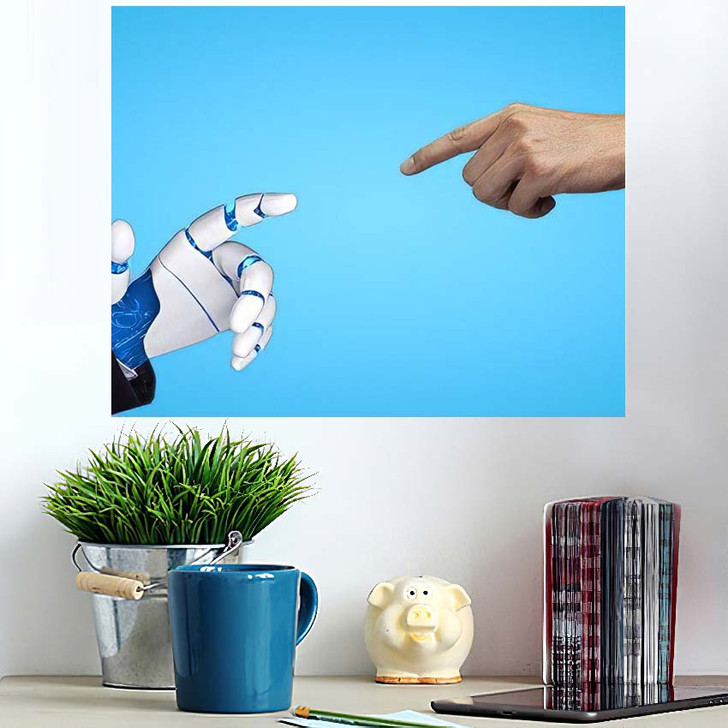 3D Rendering Artificial Intelligence Ai Research 34 - Creation of Adam Poster Art