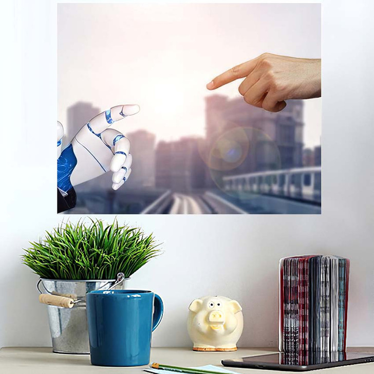 3D Rendering Artificial Intelligence Ai Research 35 - Creation of Adam Poster Art