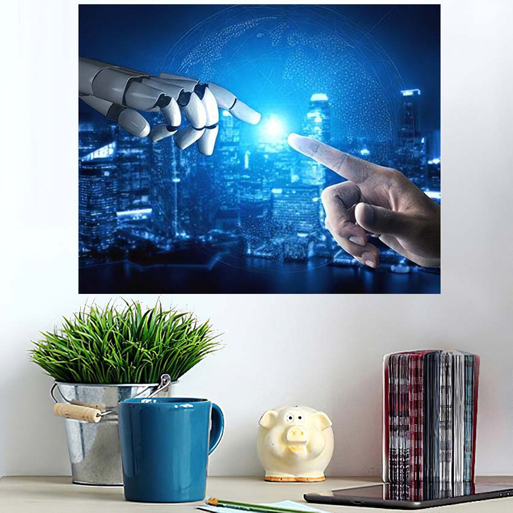 3D Rendering Artificial Intelligence Ai Research 39 - Creation of Adam Poster Art
