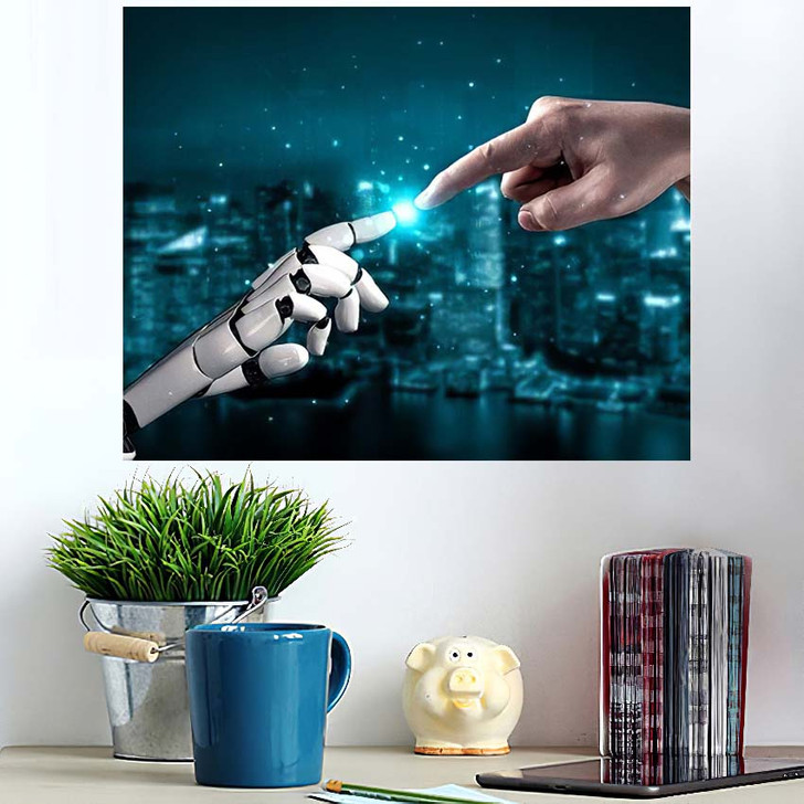 3D Rendering Artificial Intelligence Ai Research 42 - Creation of Adam Poster Art