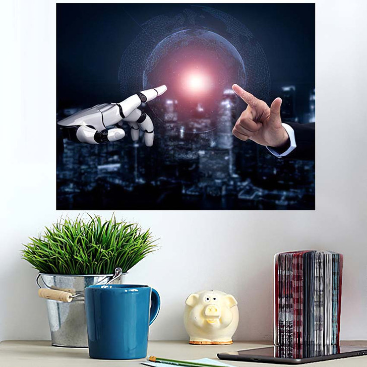 3D Rendering Artificial Intelligence Ai Research 45 - Creation of Adam Poster Art