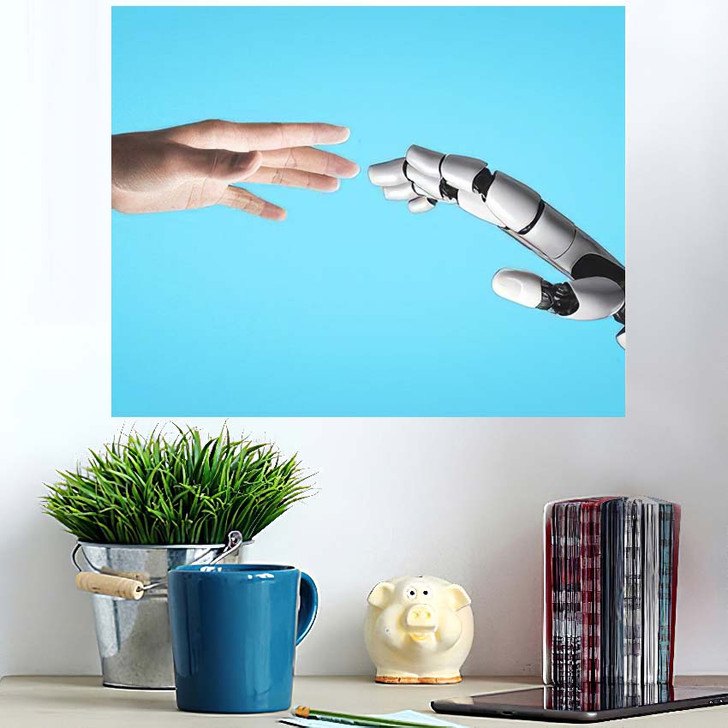 3D Rendering Artificial Intelligence Ai Research 47 - Creation of Adam Poster Art