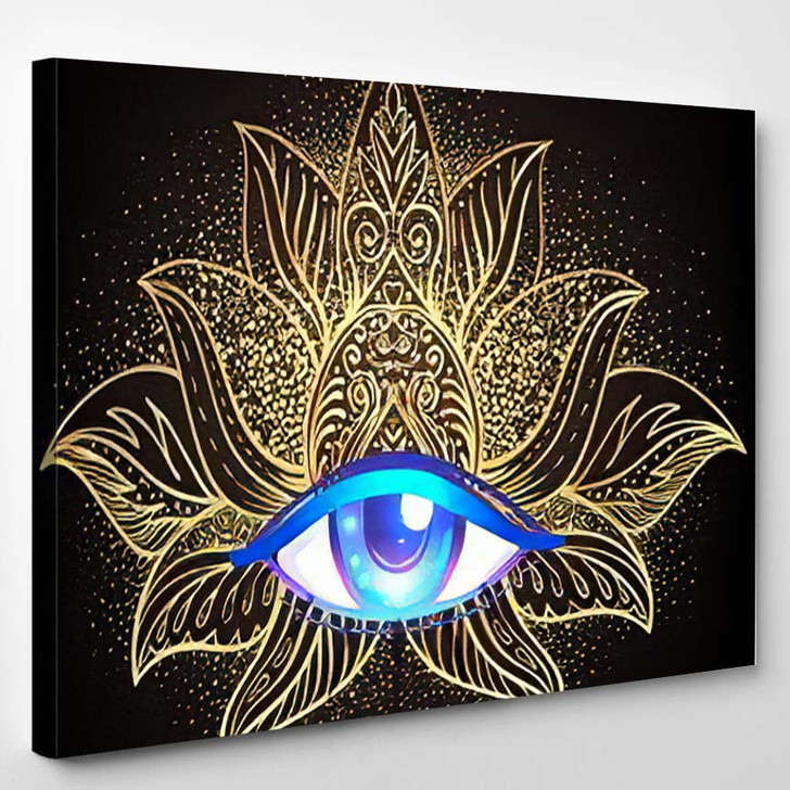 Sacred Geometry Symbol All Seeing Eye - Psychedelic Canvas Art Print