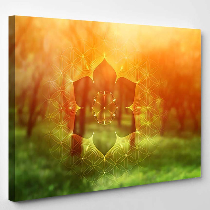 Template Banner Horizontal Format Spiritual Sacred - Psychedelic Canvas Art Print
