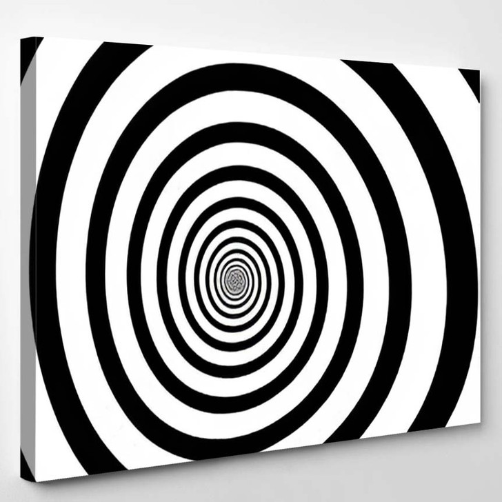 Vector Illustration Psychedelic Spiral Radial Rays - Psychedelic Canvas Art Print