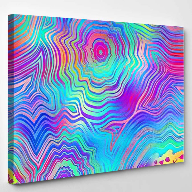 Vivid Hyper Bright Over Saturated Tropical 2 - Psychedelic Canvas Art Print