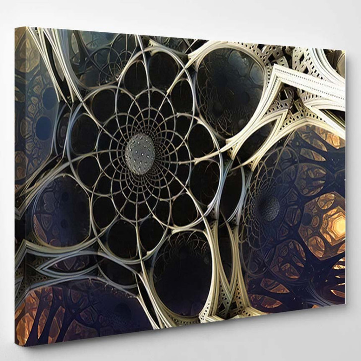 Abstract Background 3D Fantastic Structures Shapes - Fantastic Canvas Art Print