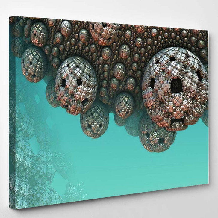 Abstract Background 3D Fantastic Underwater Constructions - Fantastic Canvas Art Print