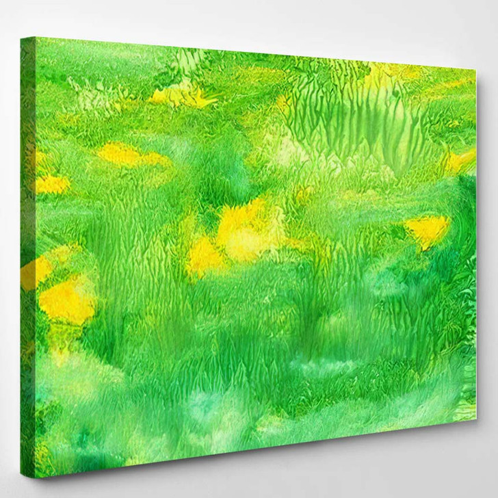 Abstract Background Colorful Texture Gouache Watercolor 1 - Fantastic Canvas Art Print