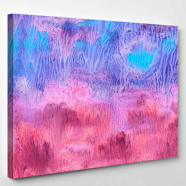 Abstract Background Colorful Texture Gouache Watercolor 2 - Fantastic Canvas Art Print