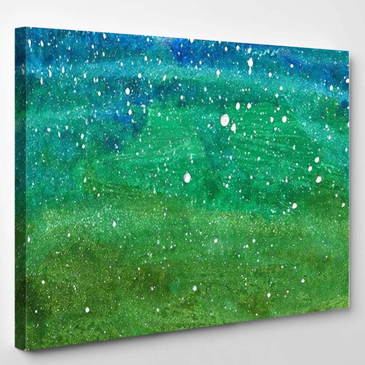Abstract Background Colorful Texture Gouache Watercolor 3 - Fantastic Canvas Art Print