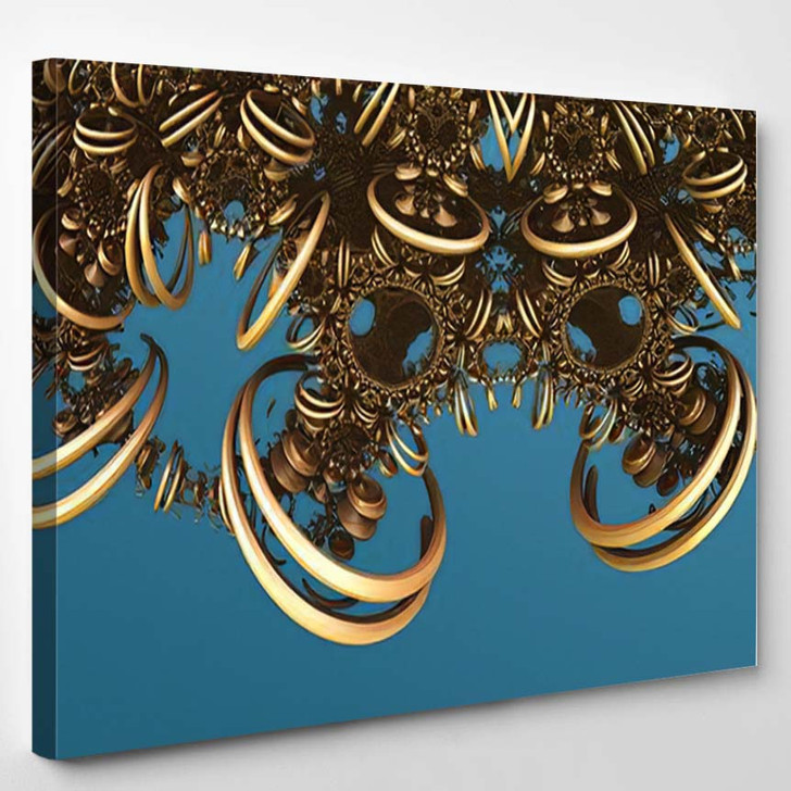 Abstract Background Fantastic 3D Circles Structures 1 - Fantastic Canvas Art Print