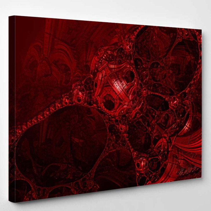 Abstract Background Fantastic 3D Structures Dark - Fantastic Canvas Art Print