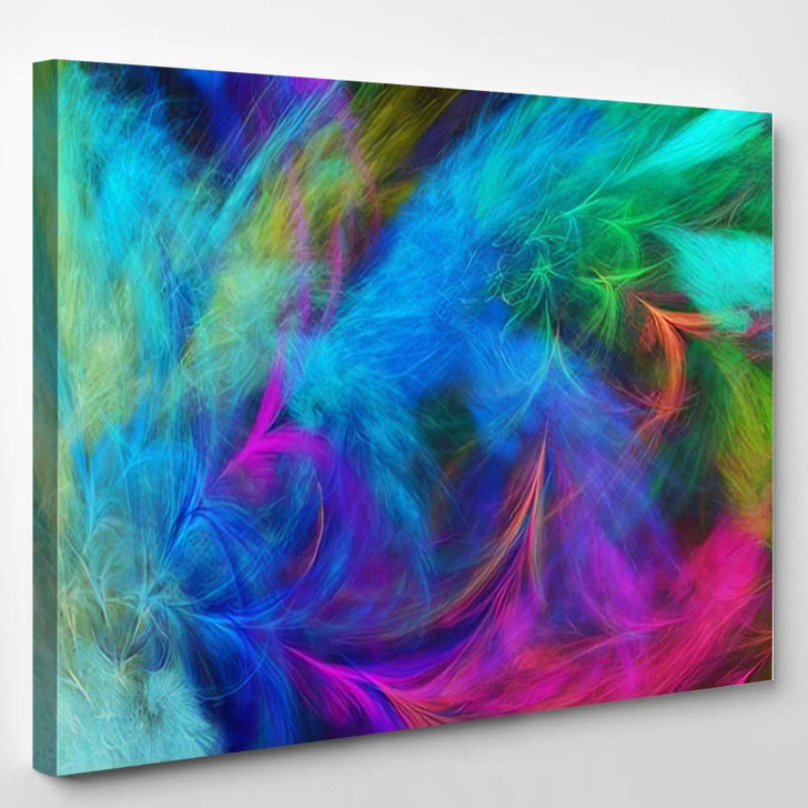 Abstract Blue Violet Fantastic Clouds Colorful - Fantastic Canvas Art Print