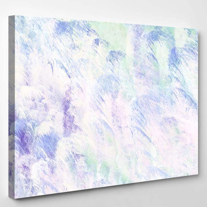 Abstract Blue White Fantastic Clouds Colorful - Fantastic Canvas Art Print