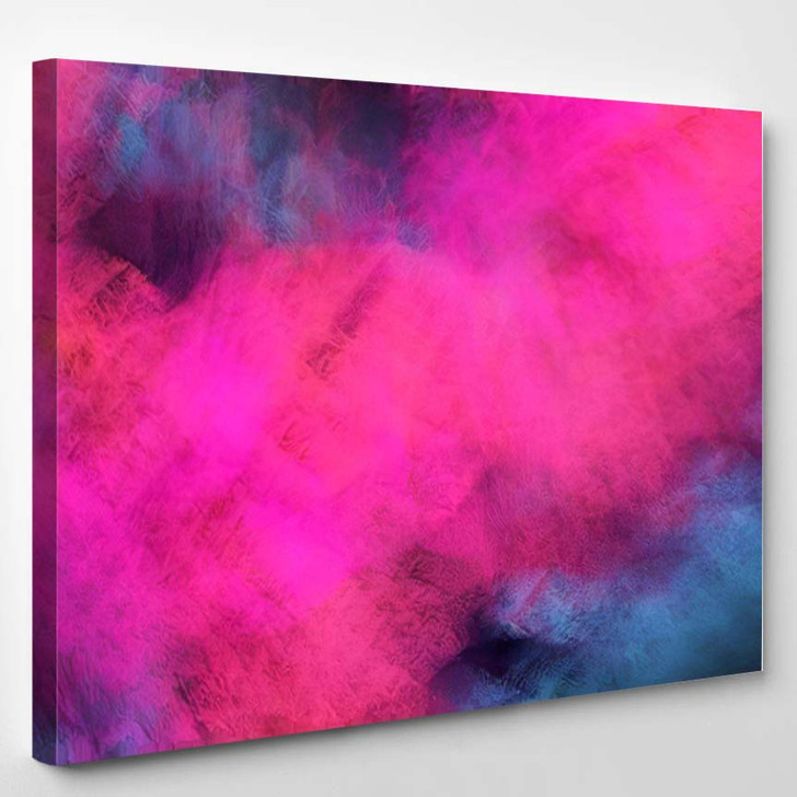 Abstract Colorful Chaotic Purple Blue Shapes - Fantastic Canvas Art Print