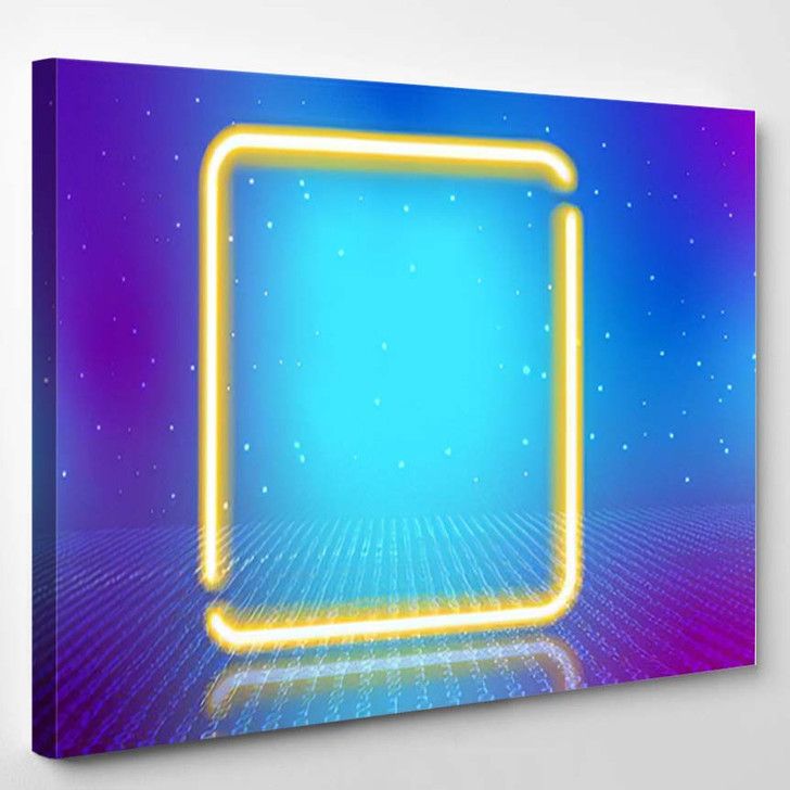 Abstract Cosmic Background Fantastic Hyperspace Neon 1 - Fantastic Canvas Art Print