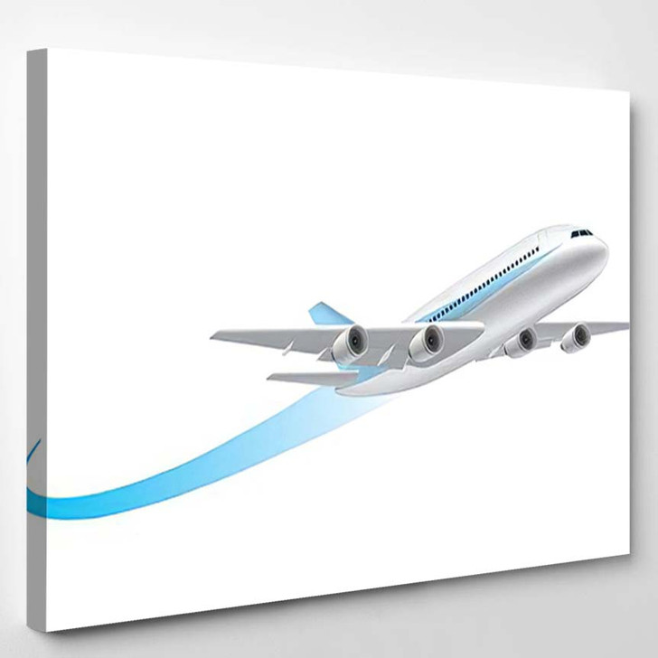 Airplane Flying 11 - Airplane Airport Canvas Art Print