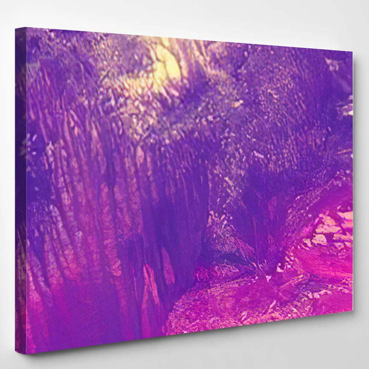 Abstract Texture Multicolored Background Gouache Watercolor 1 - Fantastic Canvas Art Print