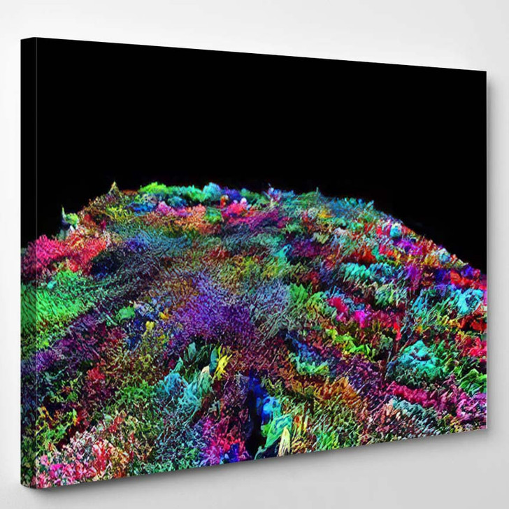 Abstract Textured Surface Fantastic Space Planet 2 - Fantastic Canvas Art Print