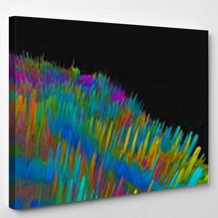 Abstract Textured Surface Fantastic Space Planet 4 - Fantastic Canvas Art Print