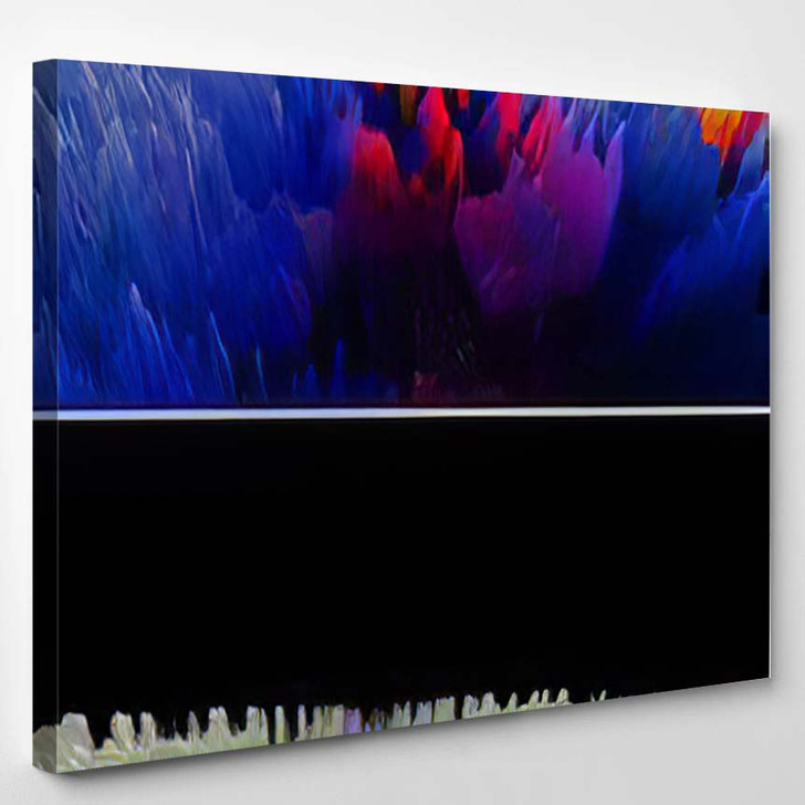 Abstract Textured Surface Fantastic Space Planet 8 - Fantastic Canvas Art Print