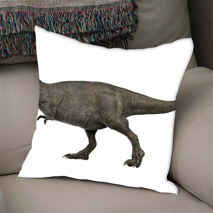 3D Rendered Trex Tyrannosaurus Rex 1 - Godzilla Animals Throw Pillow