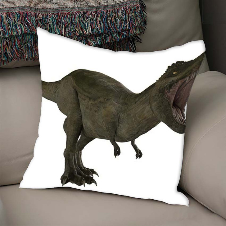 3D Rendered Trex Tyrannosaurus Rex 12 - Godzilla Animals Throw Pillow