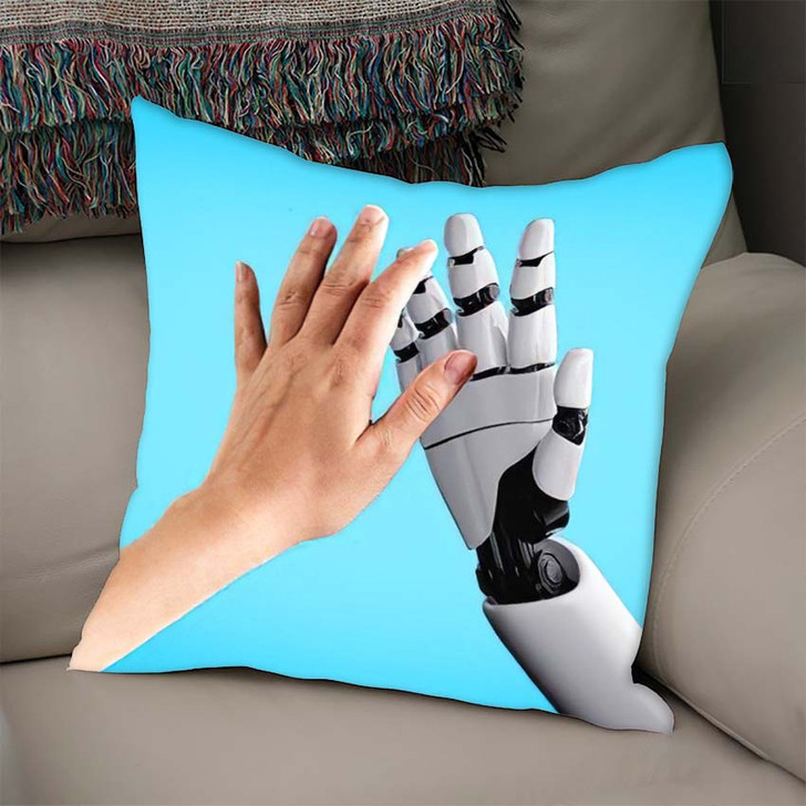 3D Rendering Artificial Intelligence Ai Research 2 - Creation of Adam Throw Pillow