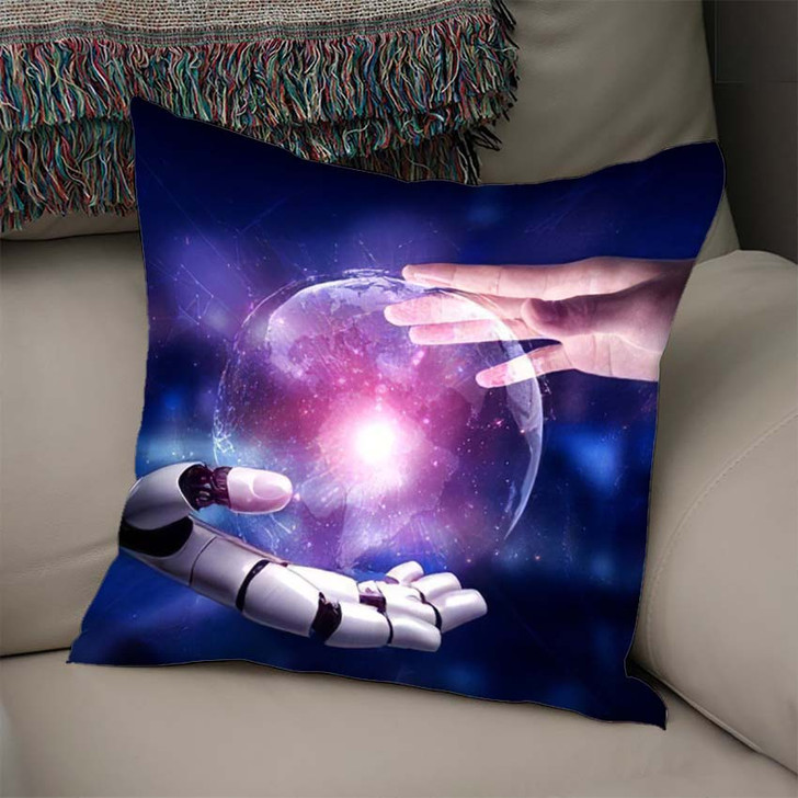 3D Rendering Artificial Intelligence Ai Research 13 - Creation of Adam Throw Pillow